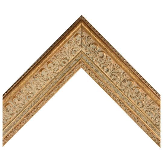 Antique Gold Ornate Scoop Custom Frame