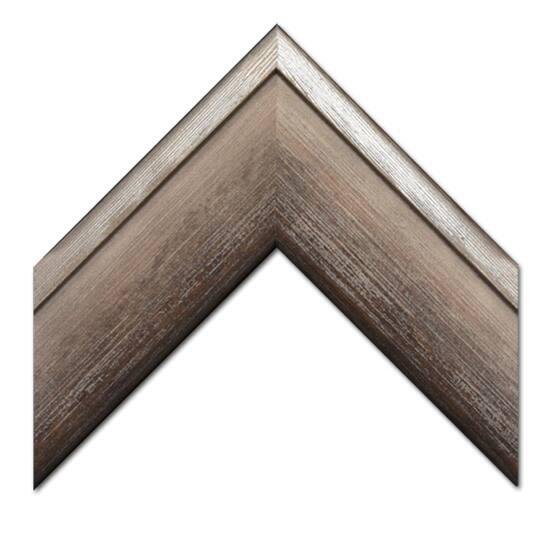 Grey Washed Barnwood With Silver Edge Custom Frame