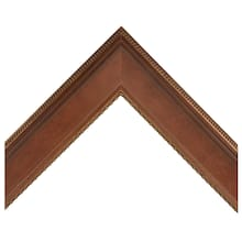 Honey Brown With Gold Fluted Edge Custom Frame