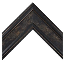 Classic Revival Blue, Black, And Gold Custom Frame