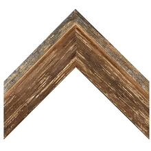 Brown Barnwood With Silver Custom Frame