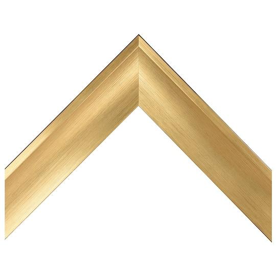 Brushed Gold Scoop Custom Frame