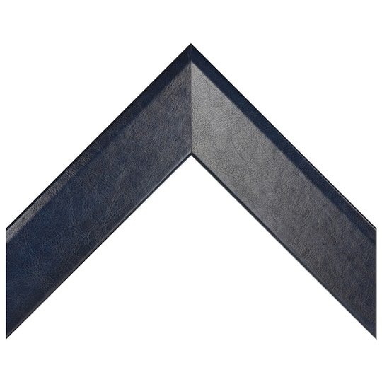 Navy Blue Leather Custom Frame
