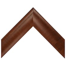 Large Dark Walnut Satin Veneer Custom Frame