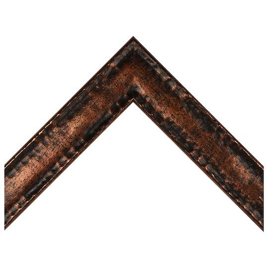 Wavy Embossed Bronze Finish Custom Frame