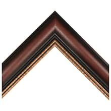 Medium Mahogany With Gold Bevel Custom Frame