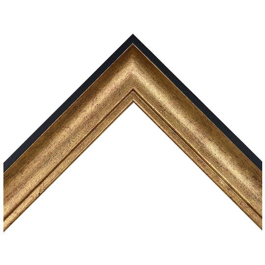 Medium Distressed Gold Scoop Custom Frame