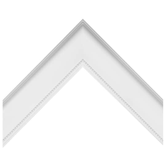 Beaded Traditional White Custom Frame