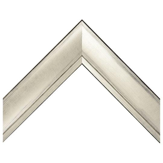 Silver Foil With Scratched Black Edges Custom Frame