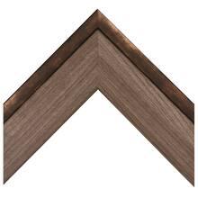 Rustic Oak With Mottled Bronze Custom Frame