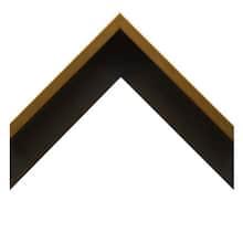 Brushed Brass Gallery Canvas Floater Custom Frame
