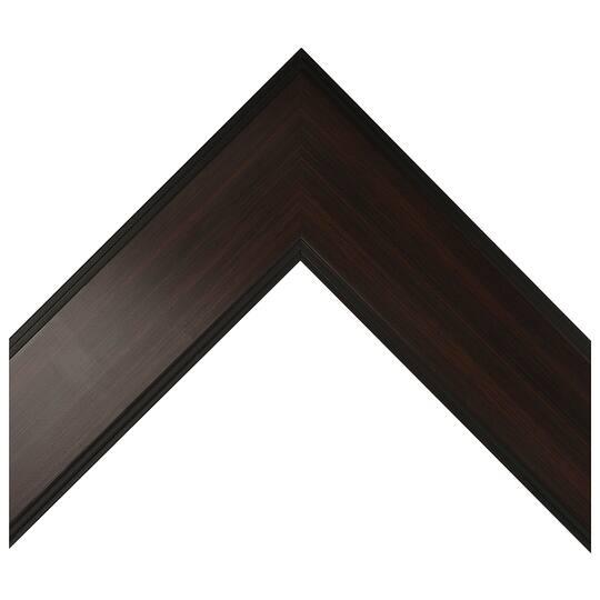 Flat Espresso Fade With Black Edges Custom Frame