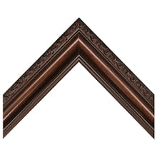 Embossed Satin Walnut Finish Custom Frame