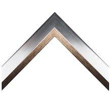Bevel/Slant Silver Custom Frame