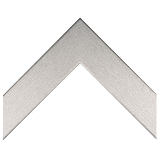 Flat Retro Silver Custom Frame