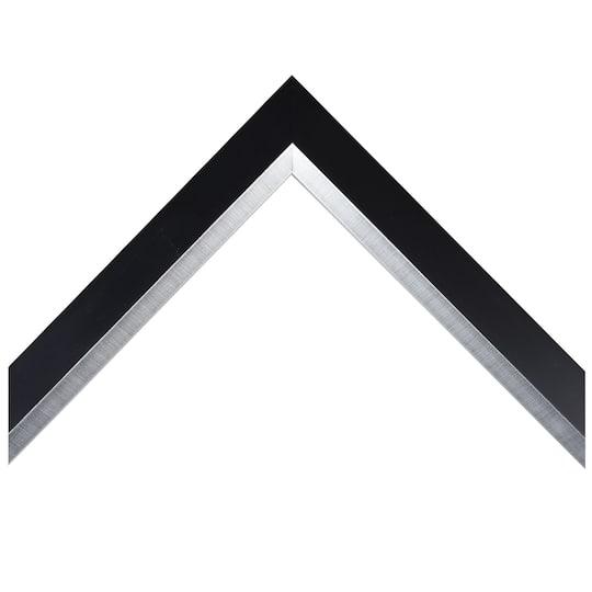 Bevel/Slant Black With Silver Lip Custom Frame